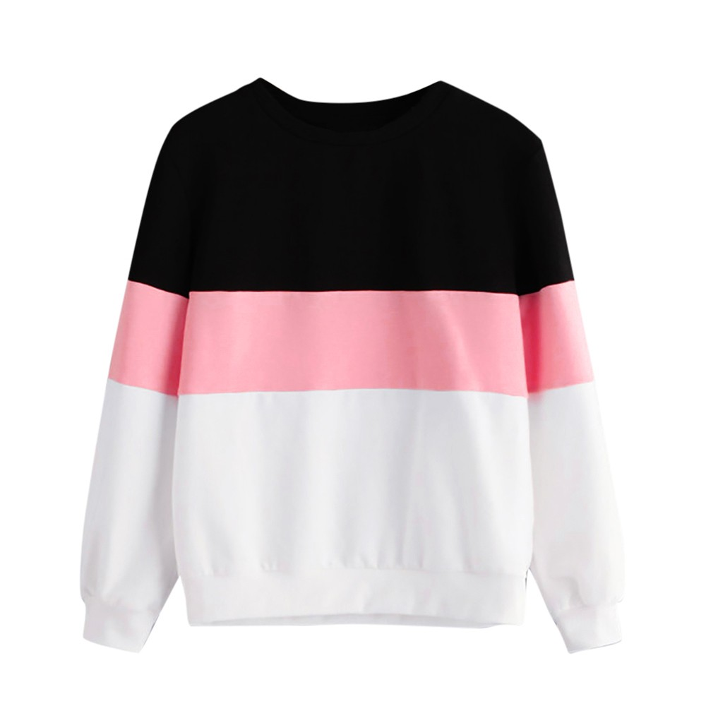 Women Hoodies Sweatshirt Long Sleeve Blackpink Stripe Cut Sew Women Pullovers Winter Jumper Hoodie Sweatshirt Sudaderas #38