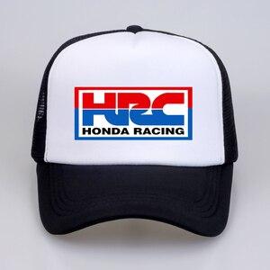 Крутая Кепка водителя грузовика s HRC Honda гоночный автомобиль, мотоцикл, вентиляторы, кепка, крутая летняя бейсбольная сетка, хип-хоп шапка, ке...