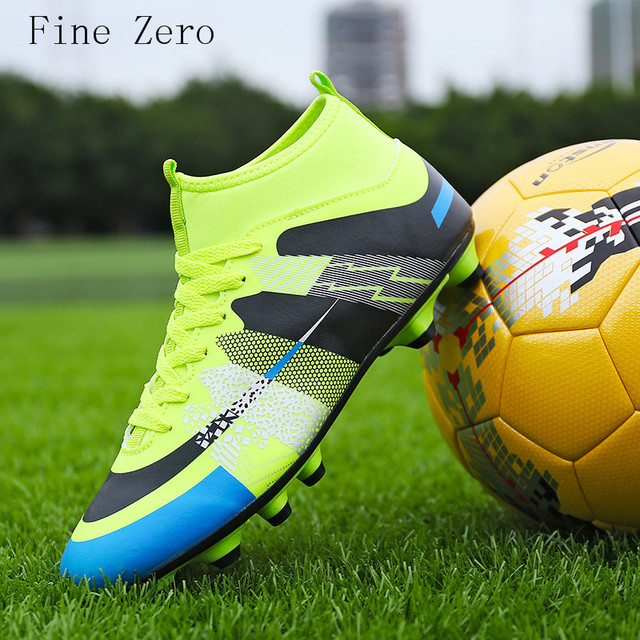4700a66bd8ee High Ankle Men Football Shoes Newest Long Spikes Training Football Boots  Hard-wearing Soccer Shoes High Top Soccer Cleats 31-43