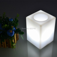 Free Shipping 7 Color Chaning Rechargeable Touch Control PE 10CM Cube Led Night Light Of Luminaria