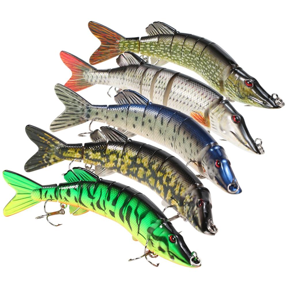 Pike Fishing Lure 8inch 20cm 66g Tackle 8 Segment 3 Hook Fish Crankbait Swimbait