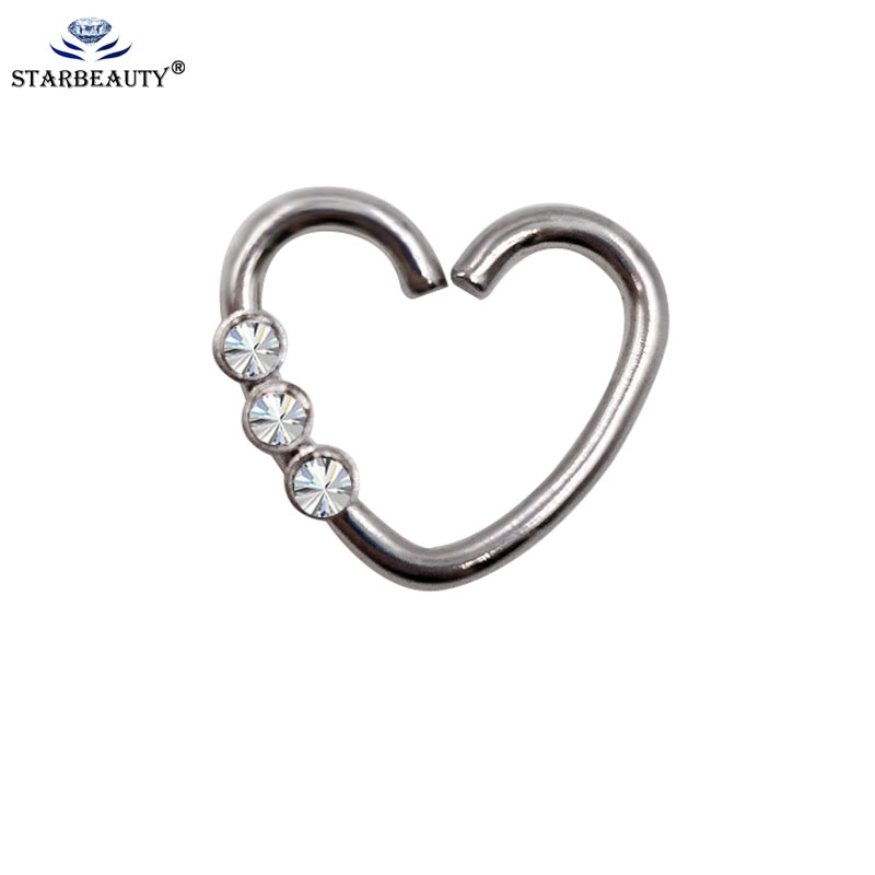 2Pcs 1.0*8mm Nose Ear Rings Fashion Body Piercing Jewelry Helix Tragus RingSurgical Stainless Tragus Barbells Earring Jewelry
