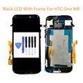[3 Cores] testado lcd para htc one m8 display lcd com touch screen digitador com moldura de montagem completa ferramentas gratuitas