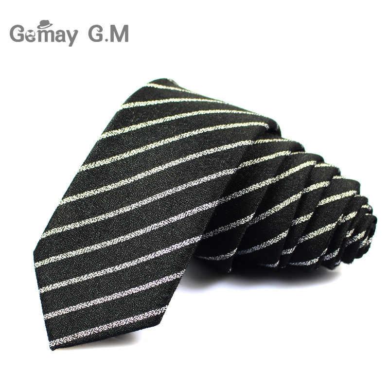 Классические хлопковые мужские галстуки, новый дизайн, узкие галстуки 6 см, тонкие клетчатые галстуки для мужчин, деловые, свадебные, вечерние галстуки