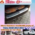 De alta Qualidade Para Volvo XC60 2014 2015 Amortecedor Traseiro Externo Proteger guarnição tampa estilo do carro detector placa pedal de Aço Inoxidável
