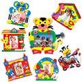 Entrega al azar!!! diy etiqueta autoadhesiva de espuma eva marco de fotos marcos de fotos manualidades para niños juguetes hechos a mano juguetes para niños kids