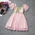 Детские девушки Блестками Платье Для Свадьбы Отдыха Детская Одежда Малыша Костюм Для 1-5 лет