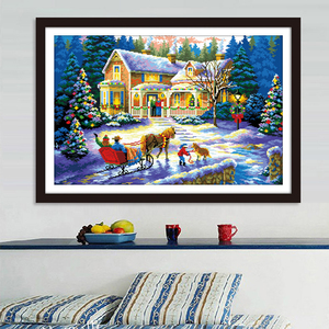 Image 3 - special shaped diamond painting 5d 3d diamond embroidery mosaic crystal stones beaded cross stitch kits scenery Christmas70*50cm
