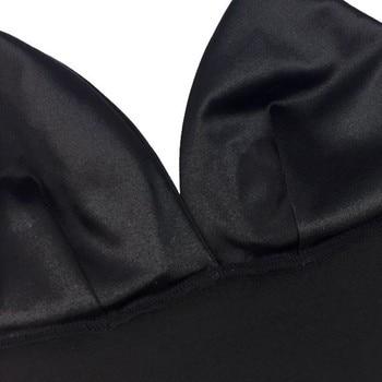 2 Colors Black White Satin Cami Tops Women's Bralette Bustier Bra Vest Shirt V Neck Ladies Top Backless Shirts Female Camisole 8