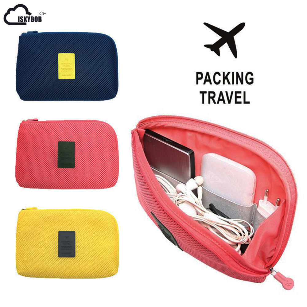 Travel Earphone Cable USB Digital Cosmetic Bag Portable Gadget Organizer Storage Makeup bag mikado 003