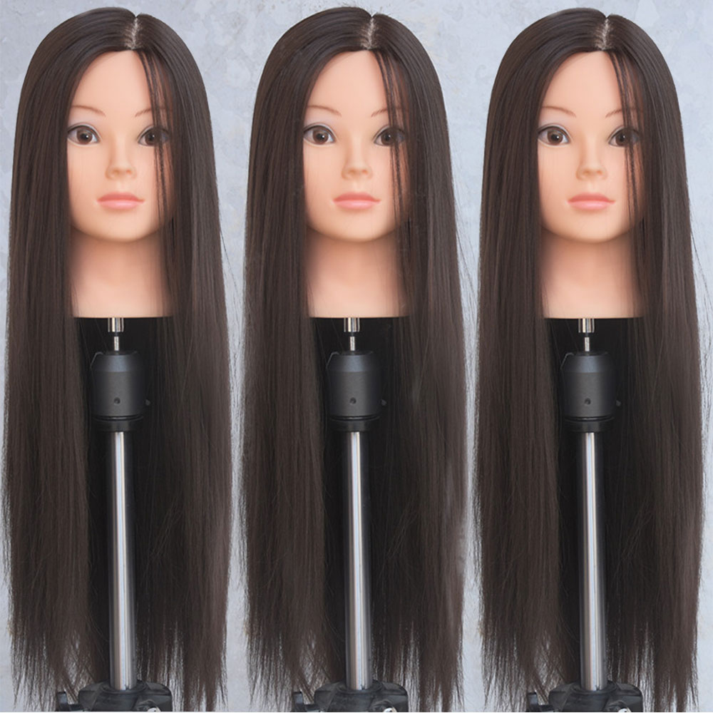 """26""""Female Head Dolls For Hairdressers Hair Synthetic Mannequin Head Hairstyles Mannequin Hairdressing Styling Training Head"""