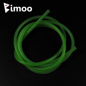 Bimoo 2m 4 millimetri Morbido Rigging Tubo Fly Tying Materiali Esche Da Pesca Tubo In Silicone Trasparente di Colore Rosa Blu Giallo Rosso