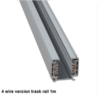 Fanlive 4pcs Track Rail 3 Phase Circuit 4 Wire LED Track Light Rail Lighting Global Track System Universal Rails Track Lamp 1m