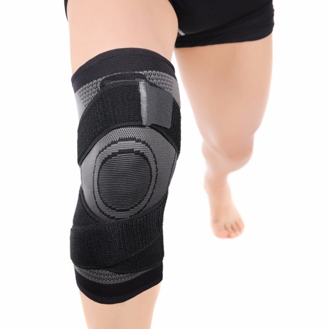 Free Ship From USA Pressurized Fitness Running Cycling Bandage Knee Support Braces Elastic Nylon Sports Compression
