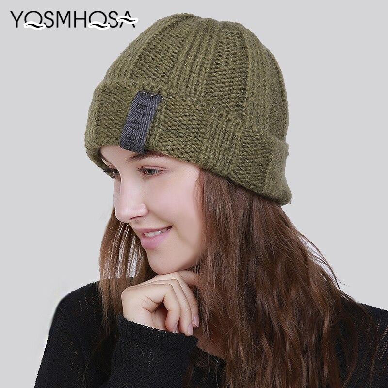 Men's Skullies & Beanies New Fashion Women Knit Winter Beanies Hats For Women Warm Girl Skullies Ladies Beanies Winter Beanie Hat Men Bonnet Unisex Wh731 Lovely Luster