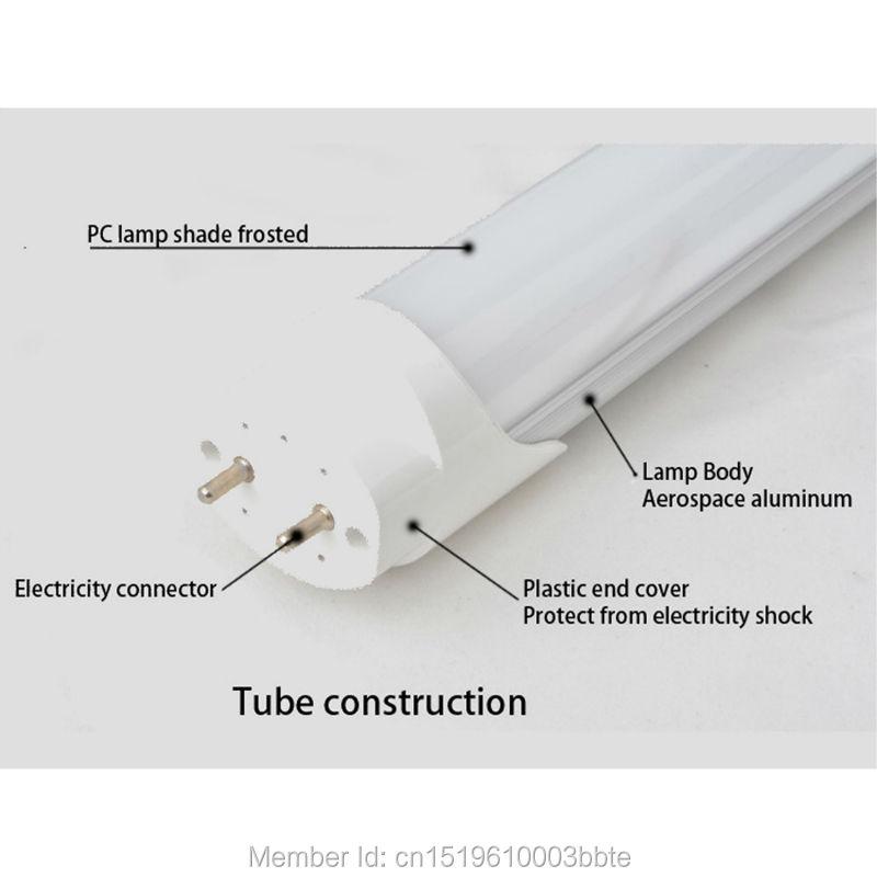 Купить с кэшбэком 60PCS Warranty 3 Years 1.5m 24W 5ft T8 LED Tube Light 1500mm G13 Bulb Fluorescent Lamp Daylight Lighting