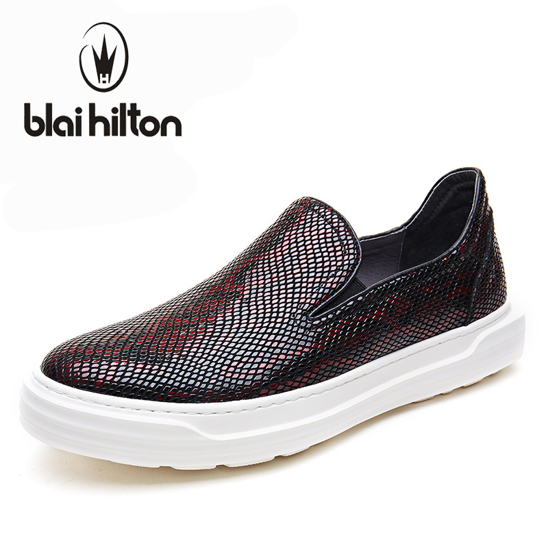 Blaibilton New Serpentine Low Top Platform 100% Luxury Genuine Leather Loafers Men Shoes Fashion Mens Shoes Casual Boat Designer blaibilton summer loafers men shoes 100