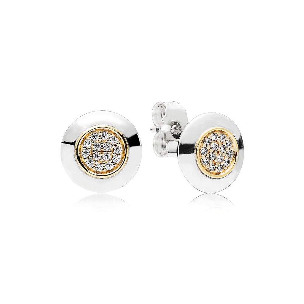 1fa3c7609 Detail Feedback Questions about Pandora Signature Gold Stud Earrings ...