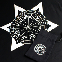 Purple/Black Tarot Tablecloth With Bags High Quality Cotton Beautiful Design Tarot Board Game Accessories