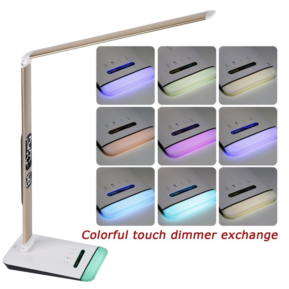 M3 LED Table Lamp with RGB Base and Calendar Table Light Folding Aluminum Alloy + ABS Night Vision Reading Lighting new diy graffiti page by page lamp table calendar light