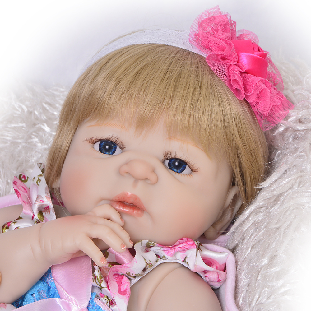 Silicone Reborn Baby Doll Gifts Toy For Girls 23 Inches Soft Silicone Doll Reborn Complete Toy For Child As Lol Surprise Bonecas