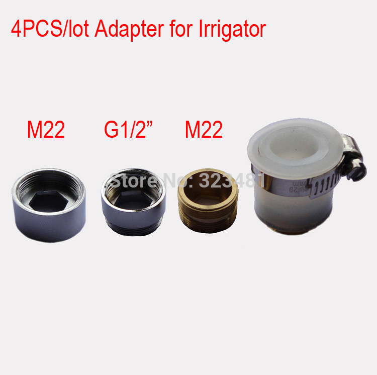 4pcs/lot Brass Faucet Connector Adapter for Irrigation M22 G1/2 ...