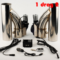 auto stainless Steel Y Pipe cutout 1 drag 2 Electric Exhaust cutout Down Pipe exhaust bypass valve remote button DYYR
