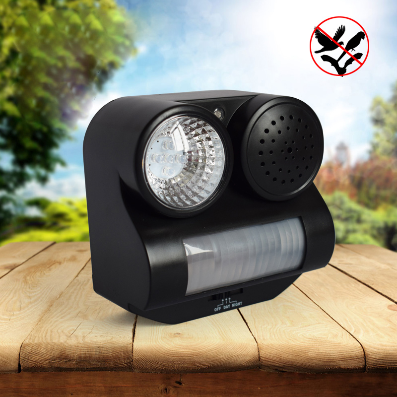 Ultrasonic Flashlight Bird Repeller Deterrent Pigeon Birds Scarer Pest Repellent For Outdoor Garden Use