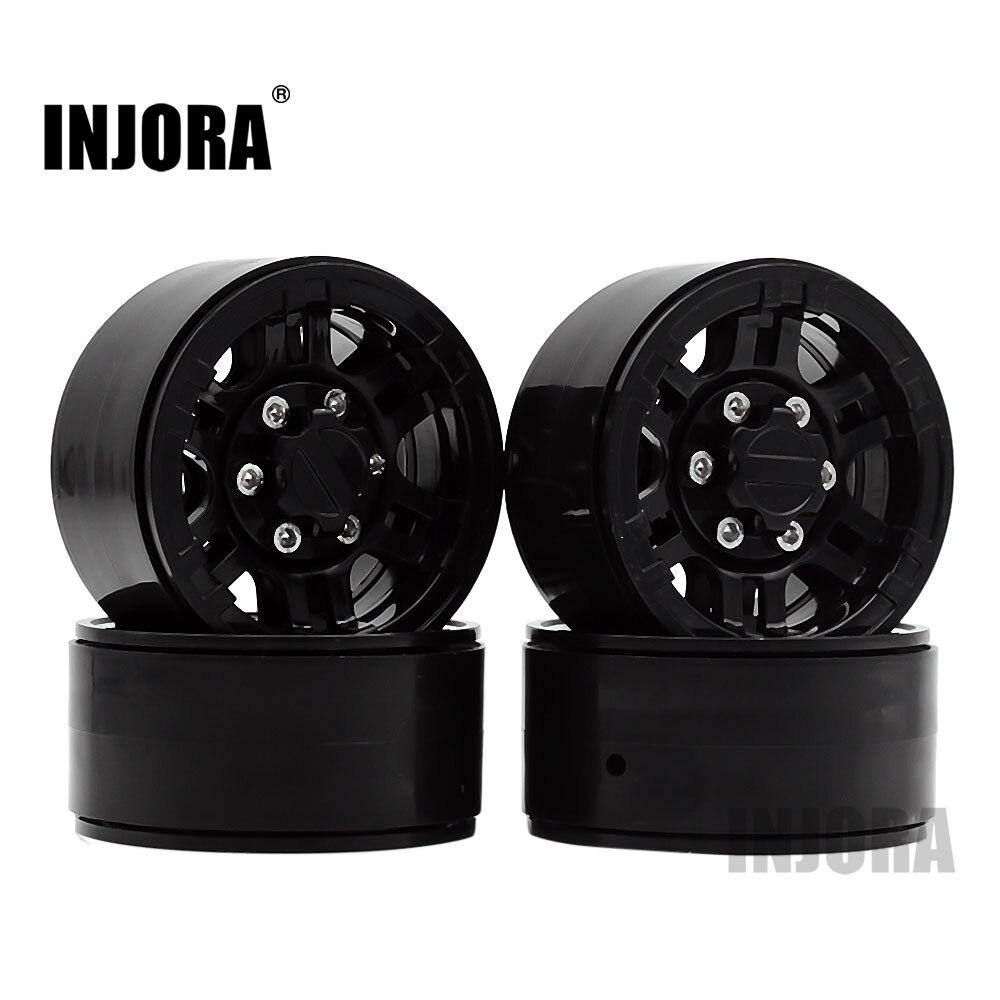 4 piezas de plástico de alta calidad de 1,9 pulgadas Beadlock rueda llanta para 1:10 RC Crawler Axial SCX10 TAMIYA CC01 D90 D110 TF2 de cubo de rueda