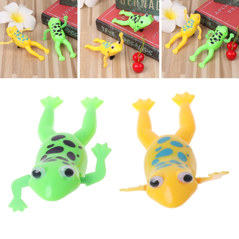 New Funny Frog Toy Wind Up Swimming Cute Frog Toy Clockwork Stop Crying Baby Kids Toys For Gift
