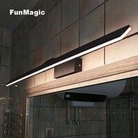 Nordic Modern Minimalism Bathroom Wall Lamp Thick 18cm Mirror Cabinet Mirror Front Light LED Bedroom Vanity Lighting Warm White