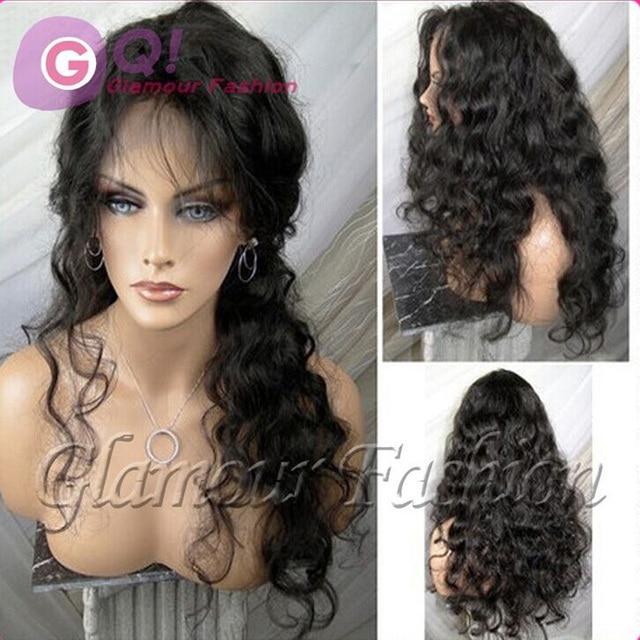 GQ Beautiful wave 4x4 silk top full lace wig can bun ponytail virgin human half  wig like scalp color full lace human hair wigs 8a4fa0fe7