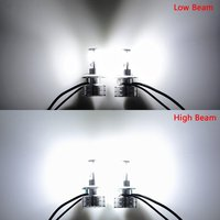 2 Unids Super Brillante H4 HB2 9003 6000K Blanco 12000lm 120W Set COB LED De Alta