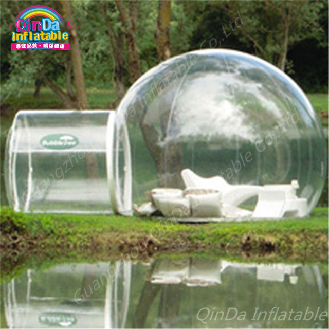 Outdoor C&ing PVC Inflatable Bubble Tent Transparent Tent Portable Transparent Dome Inflatable Cube Tent With Free : outdoor bubble tent - memphite.com