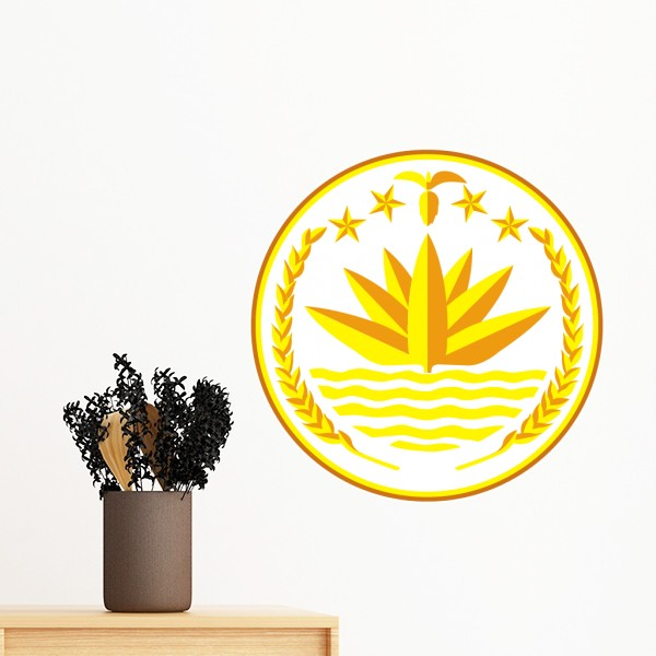 dhaka bangladesh national emblem removable wall sticker art decals