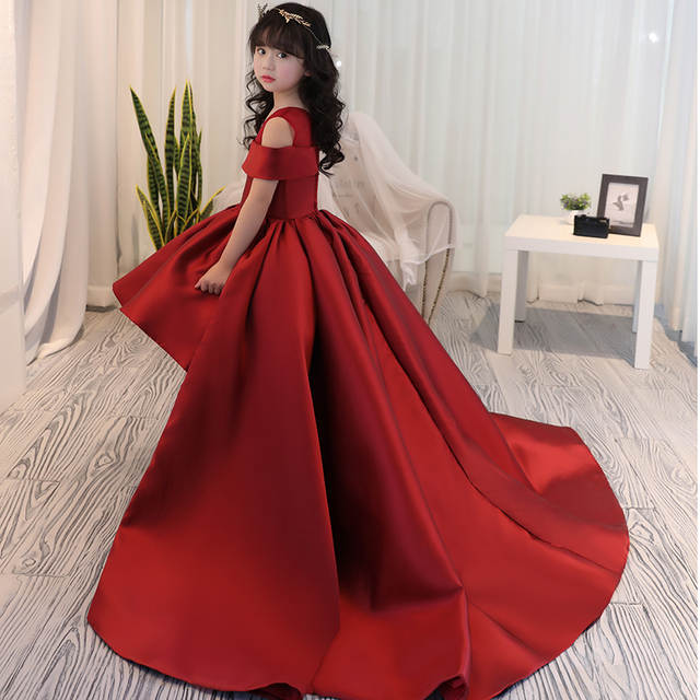 6f59703d04c1 Online Shop Girls Dress Kids Formal Wear Princess Dress Girls Clothes Baby  Wedding Party Dresses Size Age 4 5 6 7 8 9 12 13 14 Years Old