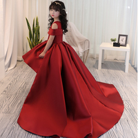 Girls Dress Kids Formal Wear Princess Dress Girls Clothes Baby Wedding Party Dresses Size Age 4 5 6 7 8 9 12 13 14 Years Old