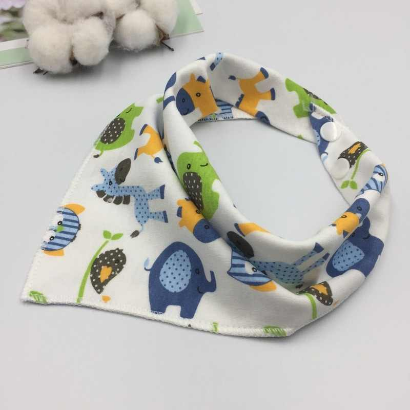 Bandana babador burp pano babadores do bebê para meninos meninas impressão animal blusa de algodão cachecol do bebê alimentação colar arroto acessórios do bebê