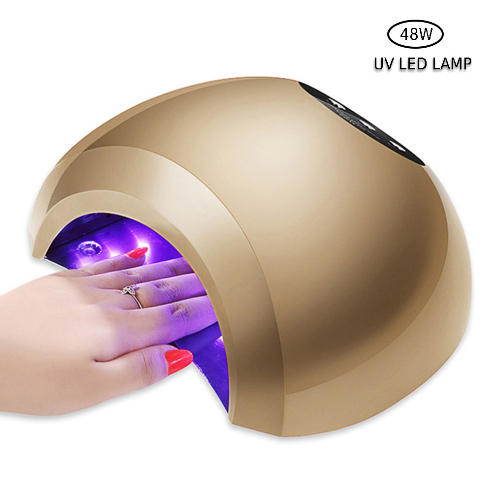 48W Nail Dryer Dual UV LED Nail Lamp Gel Polish Curing Light with Bottom 30s/60s Timer lamp for nails nail dryer noq smart sensor nail lamp with battery 48w uv led nail light dryer for curing all type gel polish with timer button 10s 30s 60s