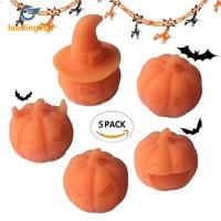 LeadingStar 5 pz Carino Novel Zucca di Halloween Bambola Ornamento Elastico Lo Stress Mitigatore Spremere Toy Natale Regalo Di Compleanno