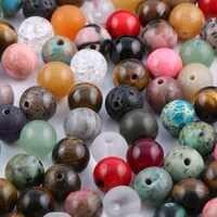 100 peças misture grânulos de pedra natural ágata amazonita unakite pedra 6 8mm grânulos soltos para fazer jóias colar pulseira diy