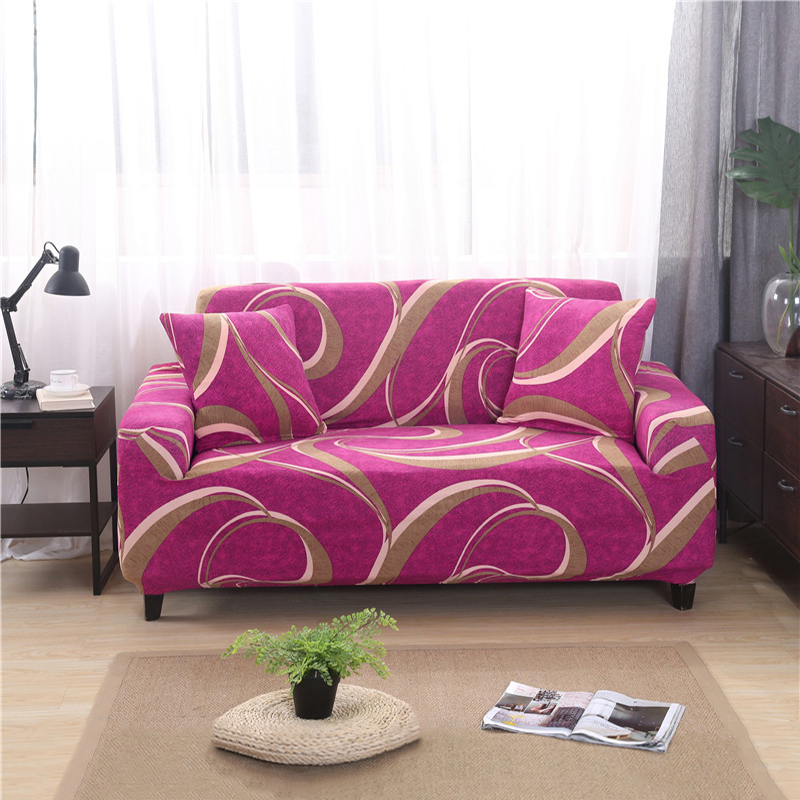 Red Geometric Sofa Cover Slipcovers For Living Room