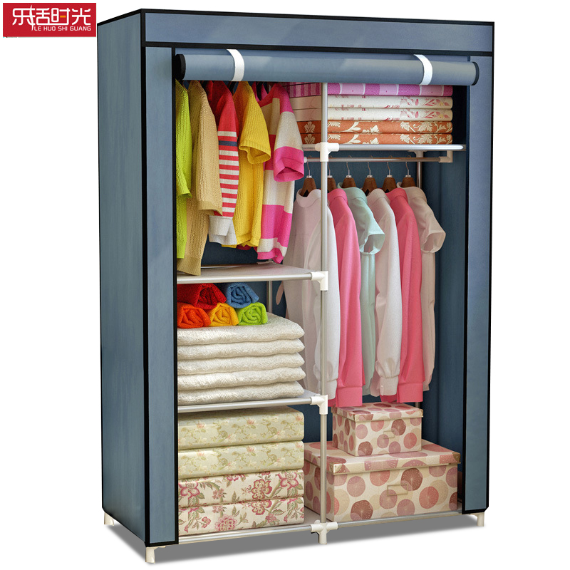 Reinforced Steel Tube Cloth Wardrobe Environmentally Friendly Dust-proof Simple Clothing Closet Furniture Hang Clothing Wardrobe