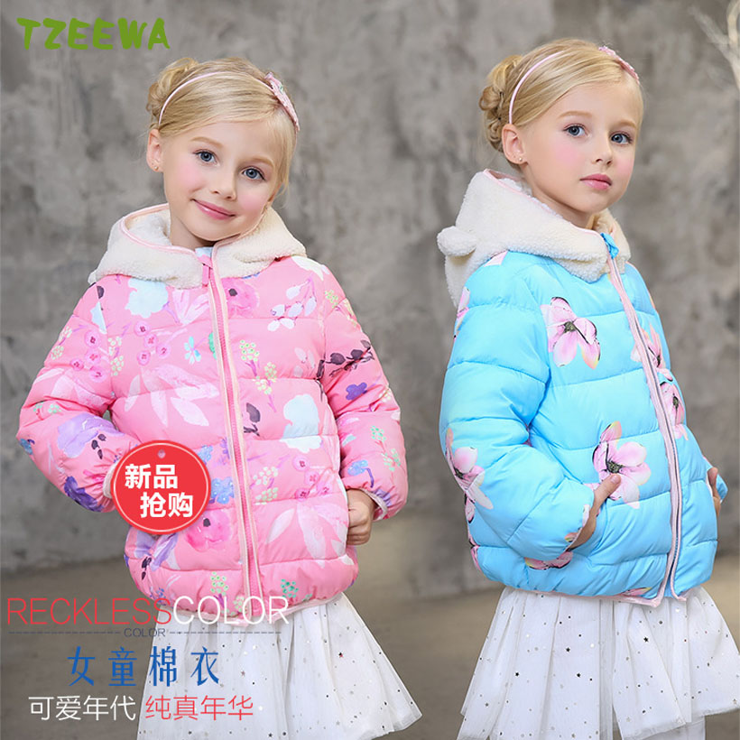 2017 Winter Jacket For Girls Clothes Cotton Padded Hooded Girl Winter Coat Manteau Fille Hiver Girl Parkas Enfant Jackets & Coat 2017 baby girl thickness warmer down jacket for girl fashion kids winter jacket manteau fille hiver hooded girls winter coat