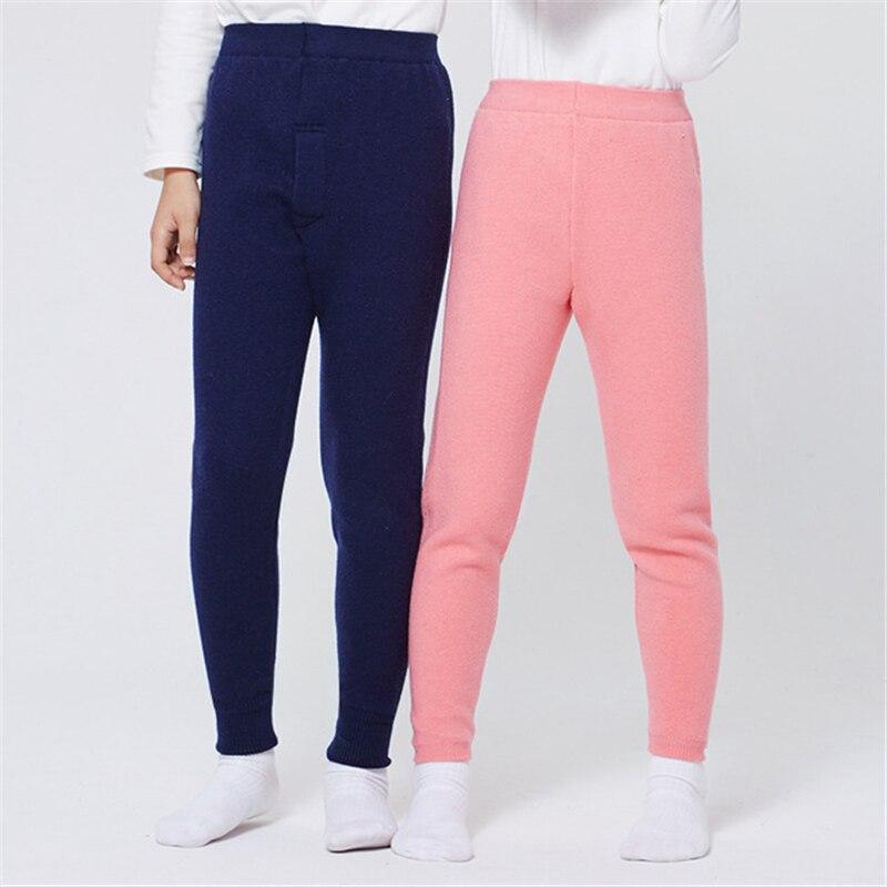Kids Winter Warm Thick Fur Leggings Girls Plush Thicken Velvet Leggings Pants Boys Sports Trousers Soft Cotton Pants AA60511 wolford velvet 66 leggings