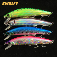 1 piece Swolfy Brand 12cm 42g Super Quality Sinking depth 0.2-3m Hard Bait Minnow Fishing lures Bass Saltwater shore wobblers