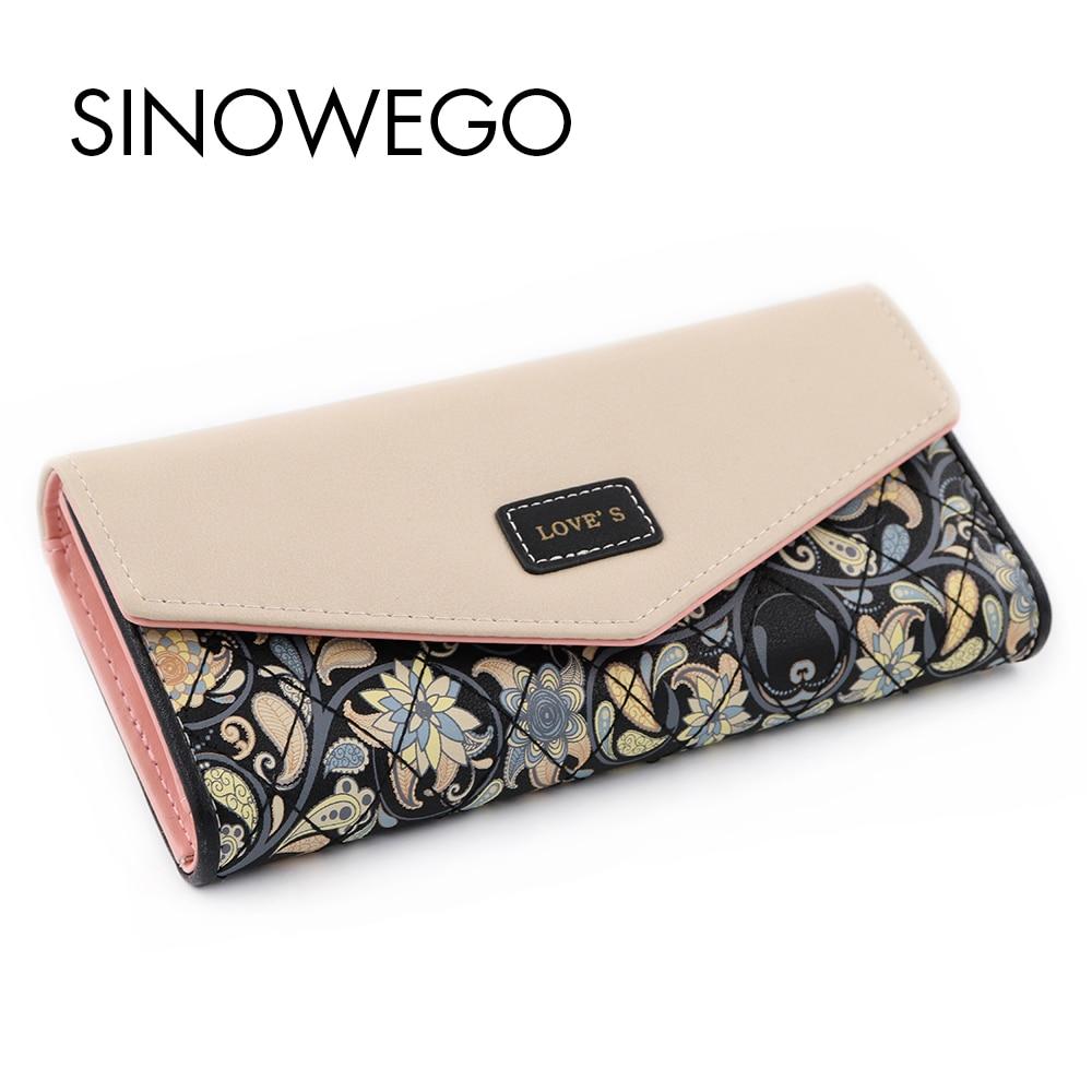 New Fashion Flower Women Wallets Embroidery Luxury Brand Famous Designer High Quality PU Phone Wallet Women Purse Wallet Female