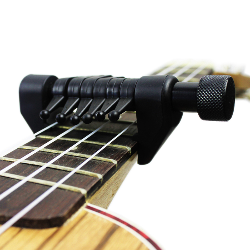 High Quality Black Flanger Flexi Portable Alternative Tuning Guitar Capo Support Various Tuning changing