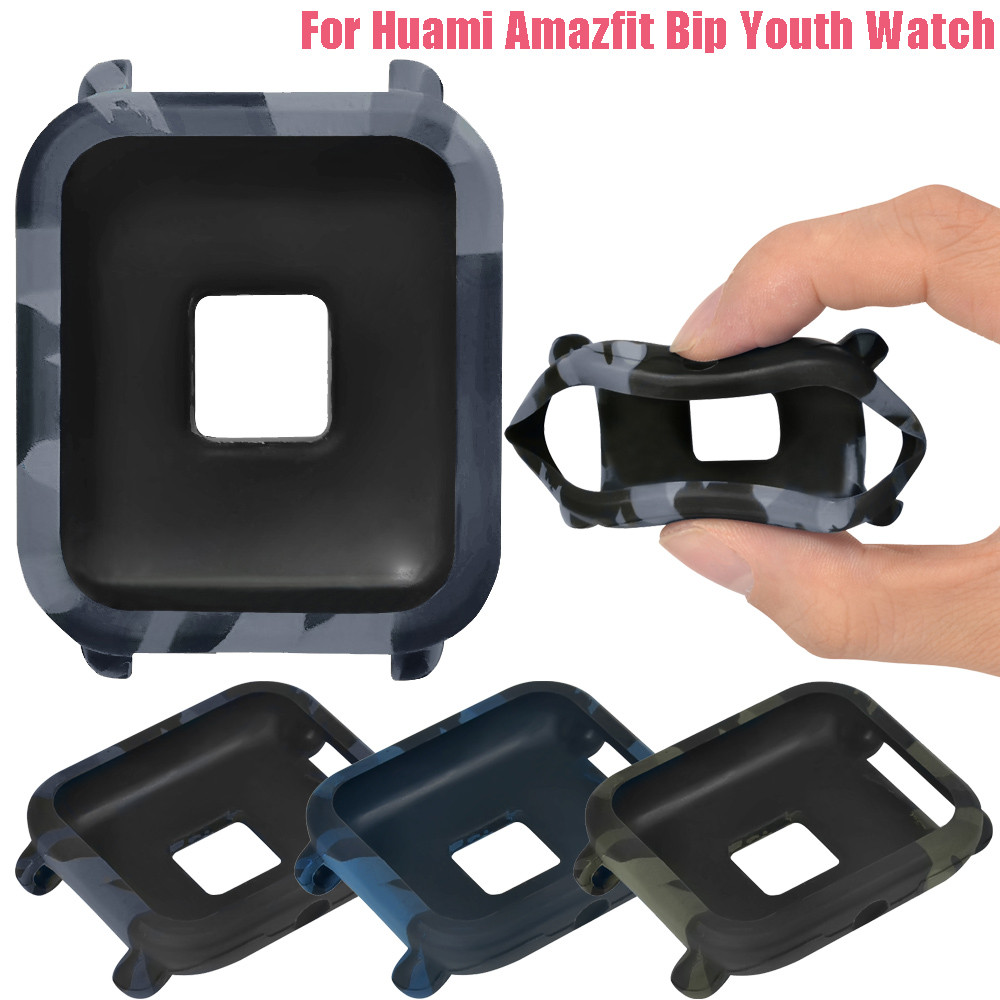 Cover Wearable-Devices Huami/amazfit Camouflage Tpu-Protection Bip/youth-Watch for Relogios