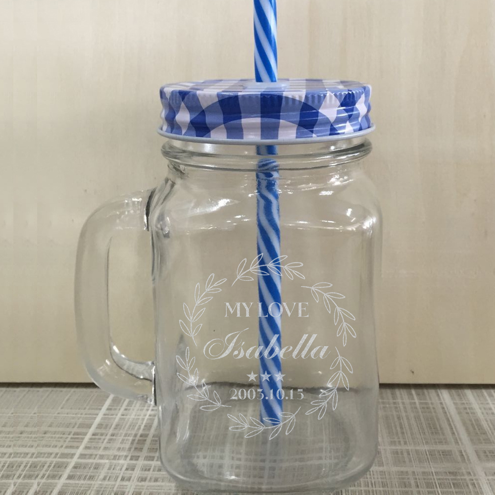 Custom Wedding Party Mason Jars Glass Personalized Cool